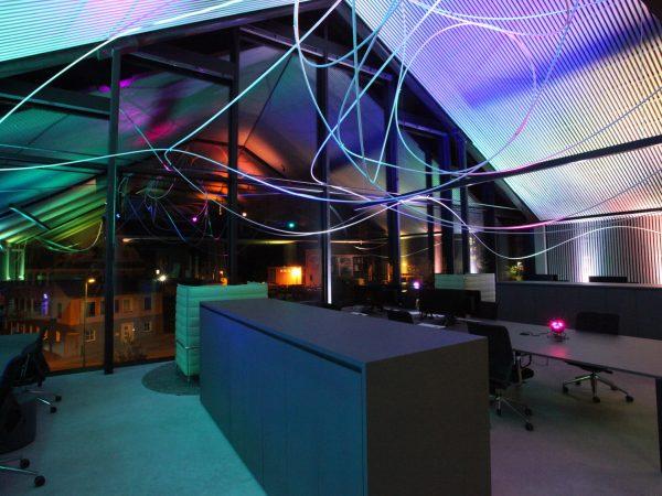 Lichtinstallation für W:architekten in Freudenstadt