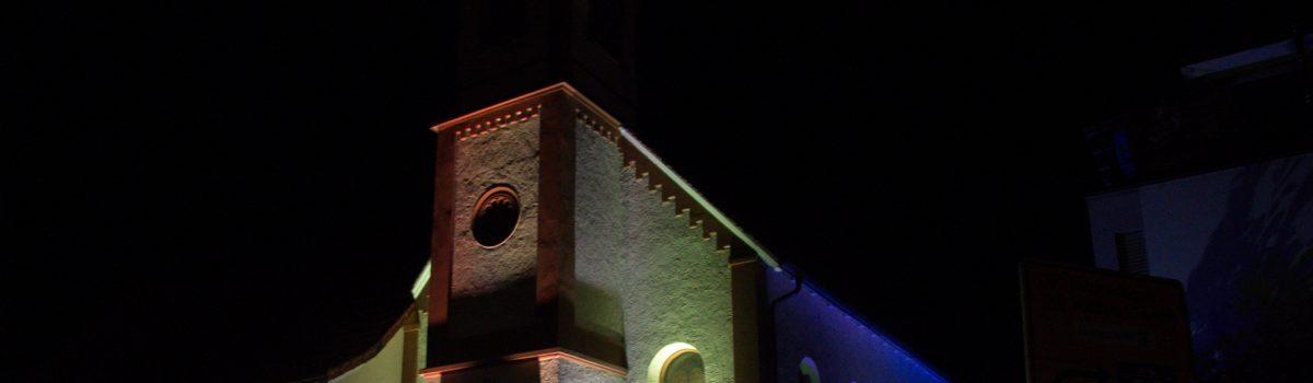 Fassadenillumination Altkatholische Kirche Singen
