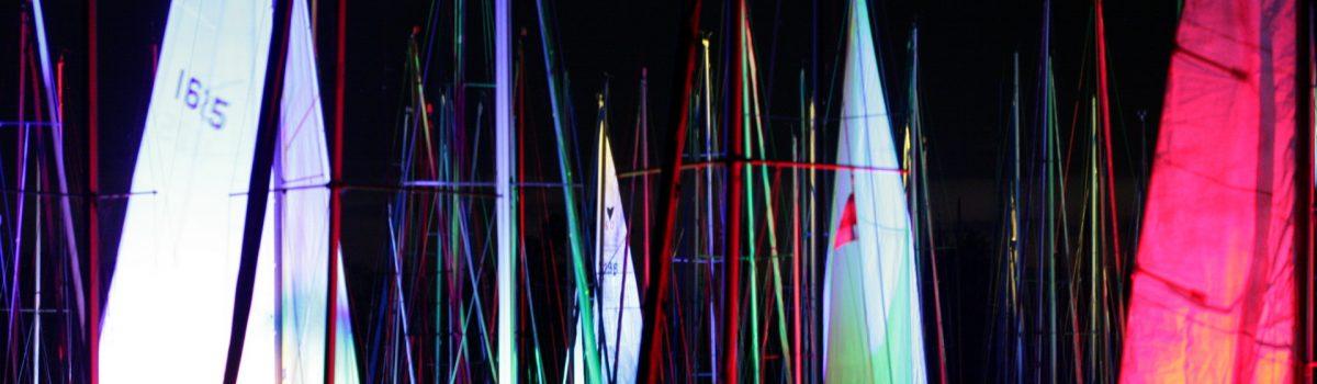 Lichtinstallation Yachthafen Kirchberg