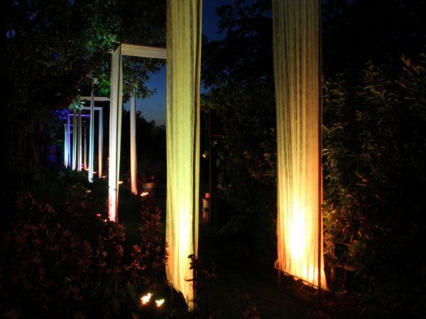 Lichtinstallation Garten Ege